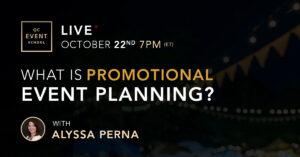 Webinar on promotional event planning