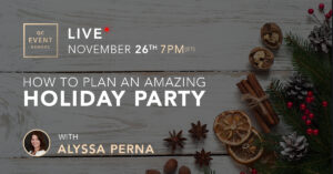 Webinar on how to host a holiday party