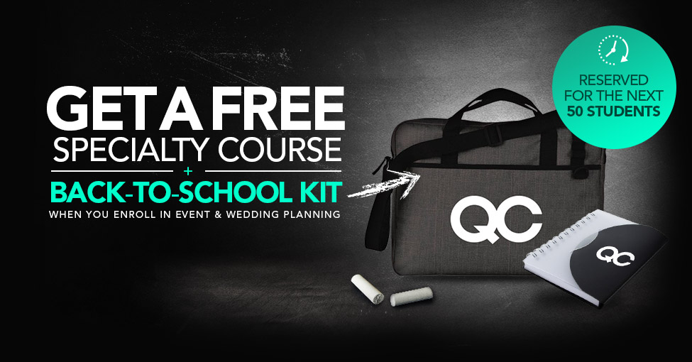 QC Event School Special Offer
